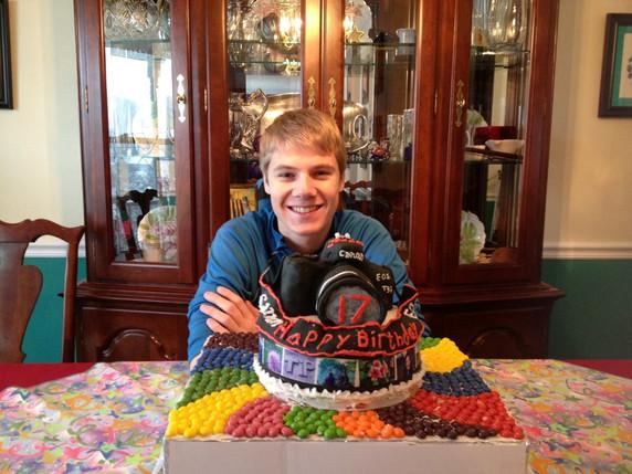 Jacob Thompson camera birthday cake