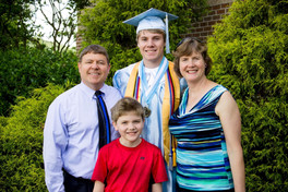 Jacob Thompson and family high school graduation