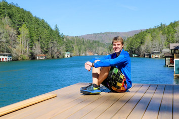 Jacob Thompson chilling on a dock