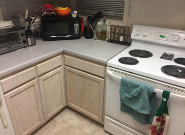 Evolution of a college apartment kitchen