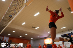Clemson volleyball spike