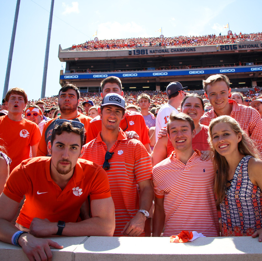 Clemson Football Student Section Fan