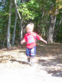 Alex Thompson running happy