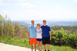 Clemson students hiking