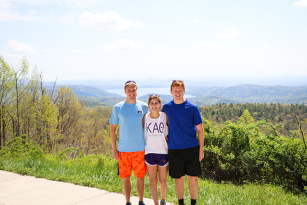 Clemson students hiking