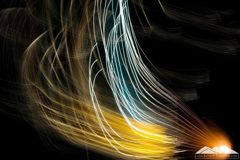 sparkler long exposure blur