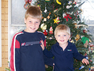 Jacob Thompson and Alex Thompson Christmas