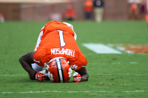 Clemson football thompson angry sad