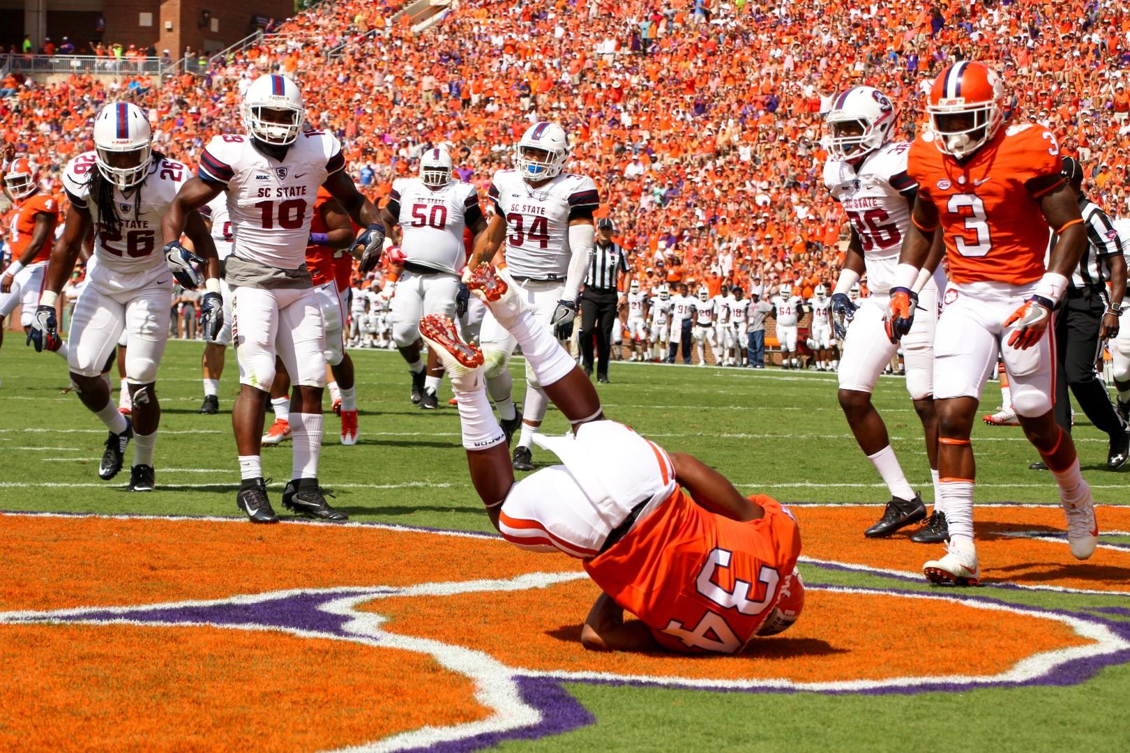 Clemson football touchdown