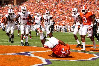 clemson football touchdown dive