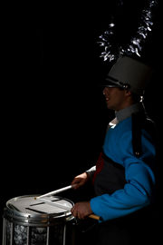marching band uniform flash photo