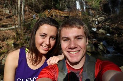Jacob Thompson Cassidy Barringer hike