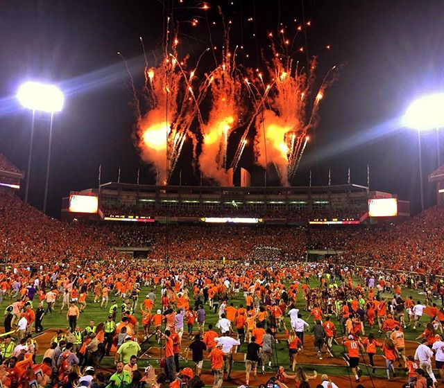 Fireworks in Death Valley Clemson