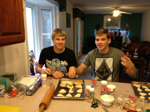 Jacob Thompson andy paulonis christmas cookies
