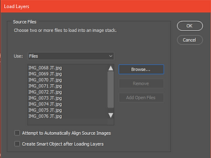 Photoshop steps for batch import