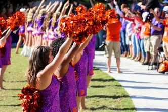 Clemson tiger dancers pregame