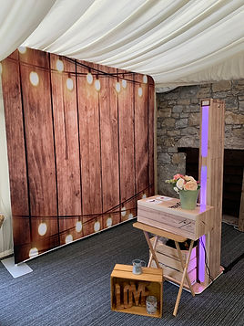 Selfie Pod at a Wedding in South Wales