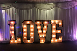 Rustic LOVE Letters for Hire Cadiff