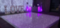 LED Starlight Starlit Dance floor Hire Cardiff South Wales