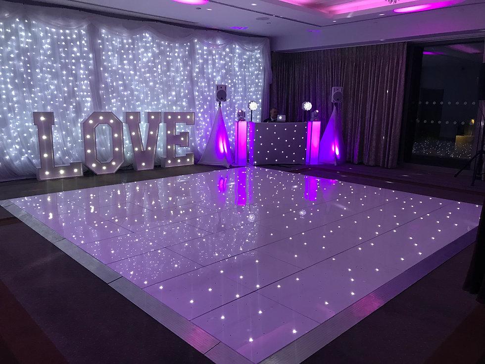Starlit Dance floor Hire Cardiff, Newpor