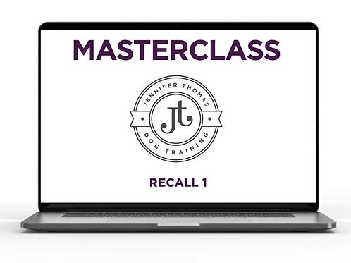 Recall 1 - Masterclass Webinar