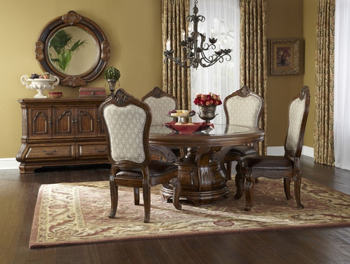 In The Tradition Of Tuscany Region Italy AICO Introduces Casual Elegance Tuscano Dining Room Set With Rectangular Table