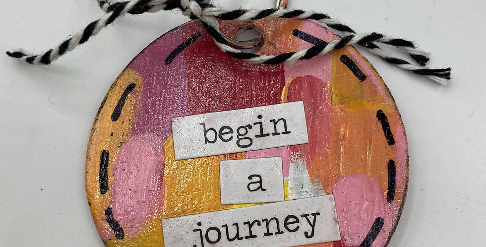 Begin a Journey Keychain