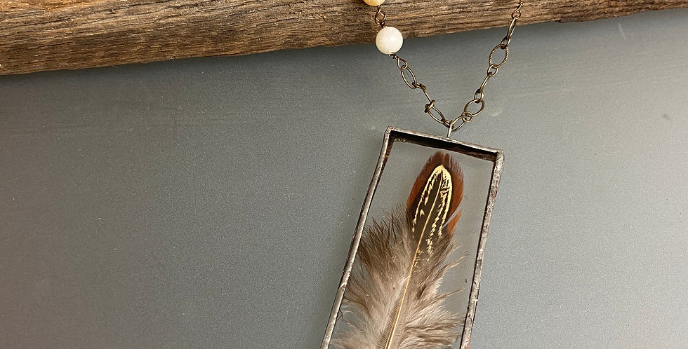 Chicken Feather Pendant