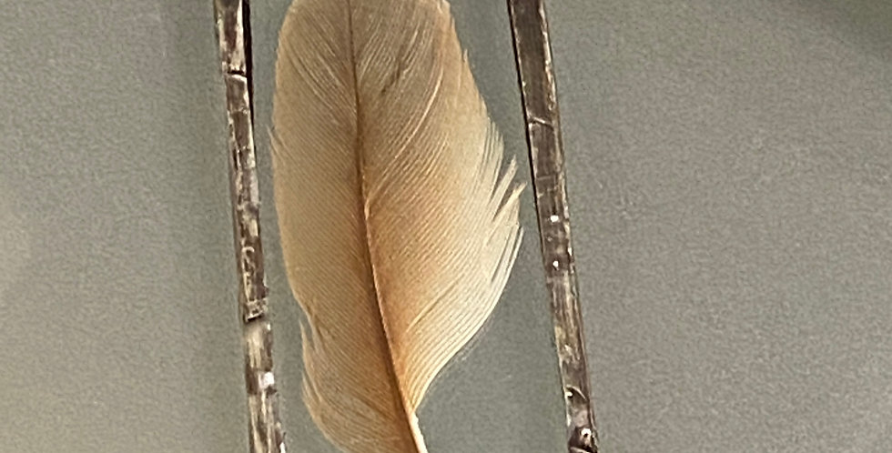 Cardinal Feather Pendant
