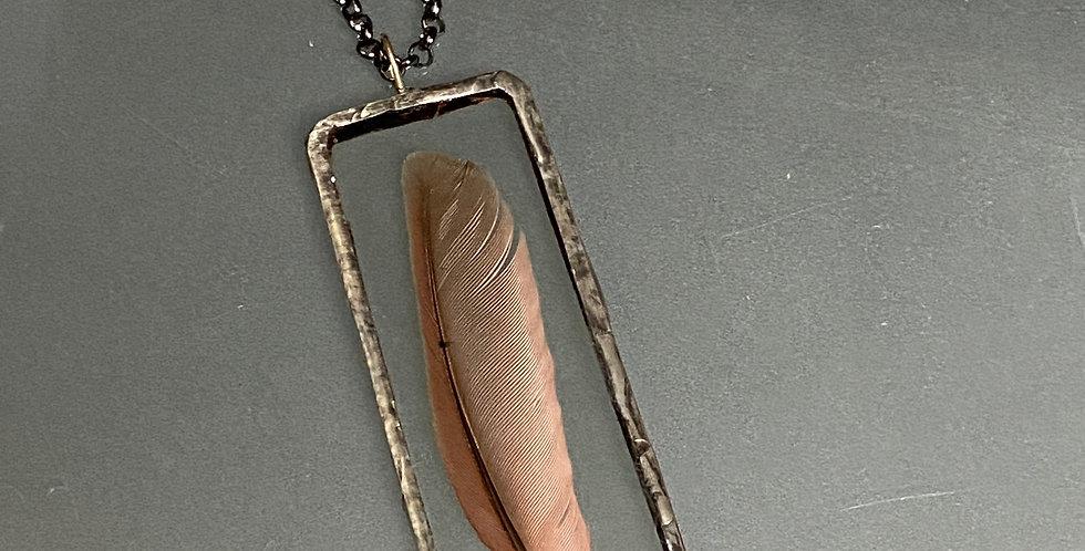 Cardinal Feather Pendant