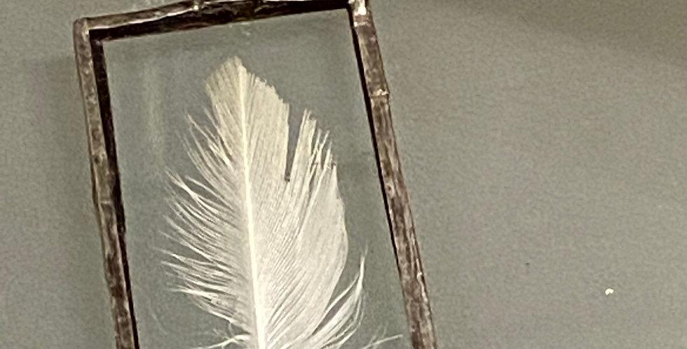 White Feather Pendant