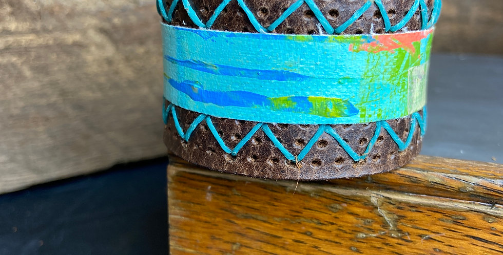 Painted Cuff with Stitching