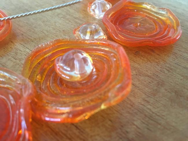 Coral Glass Pendant