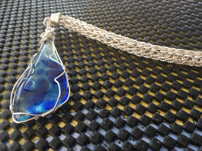 Sterling Silver Hand Woven Pendant