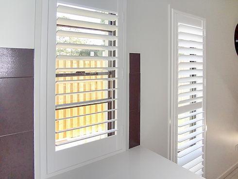 Internal polymer / pvc plantation shutters in Brisbane northside location