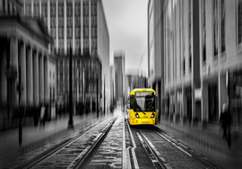 Tram on Mosley St