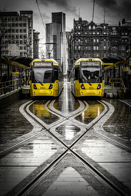 Trams in St Peter's Square