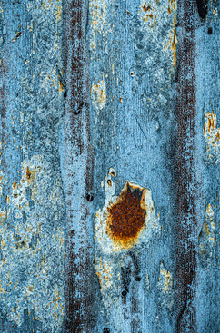 Rusted and Painted Corrugated Iron