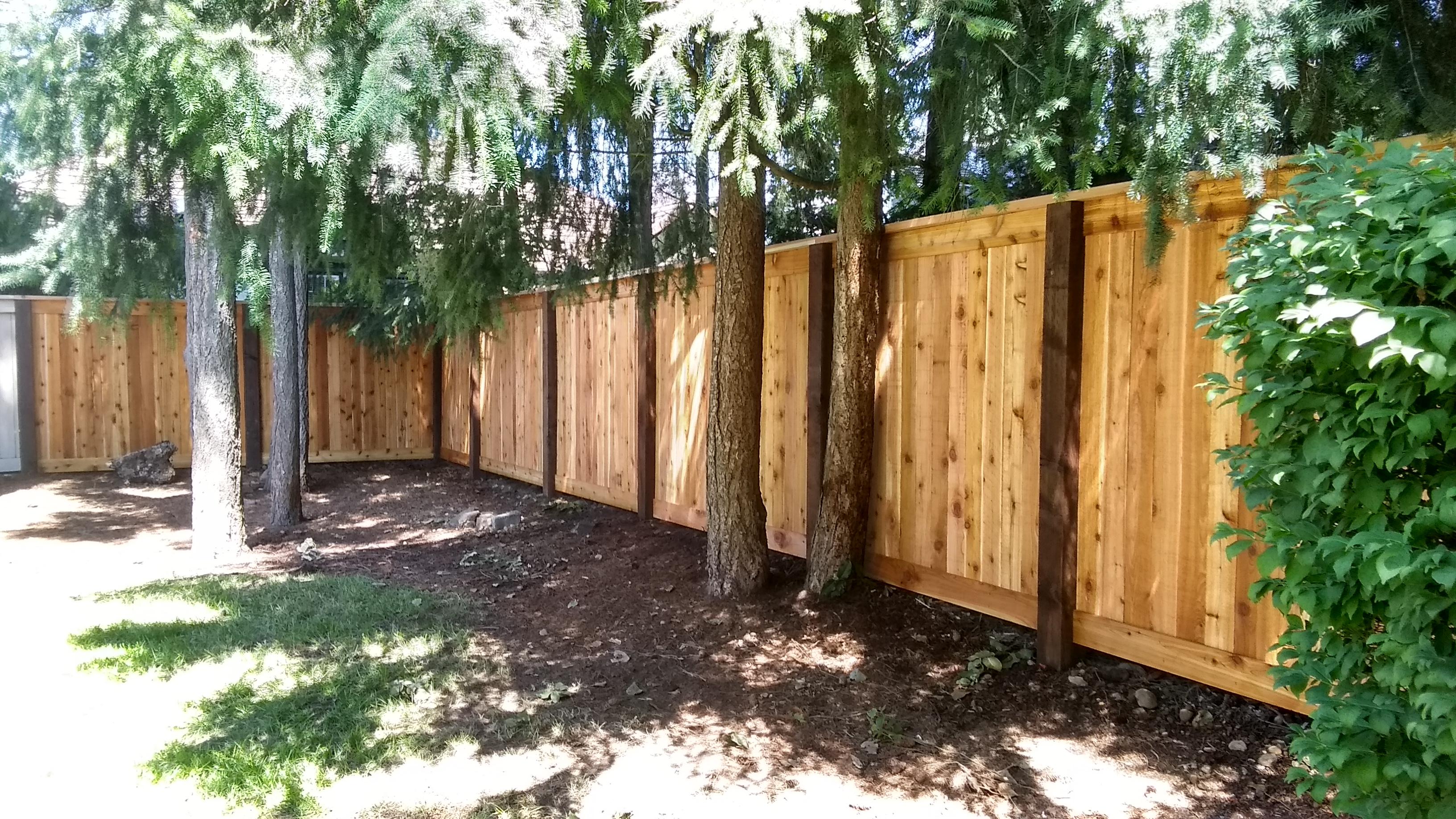 6x6 Estate Style Cedar Fence