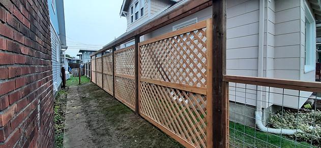 Custom 7' Double Lattice panel Fence
