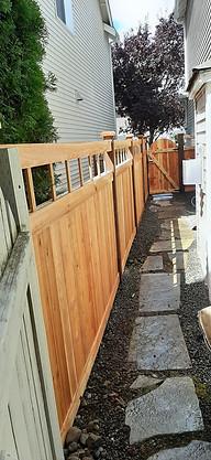 HOA Specific Picket Top Cedar Fence