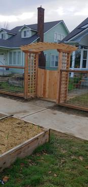 Custom Full Cedar Arbor Gate and Hogwire Fence
