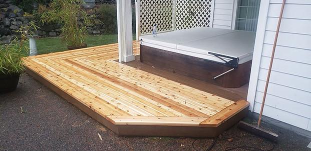 Small deck resurface in herring bone pattern