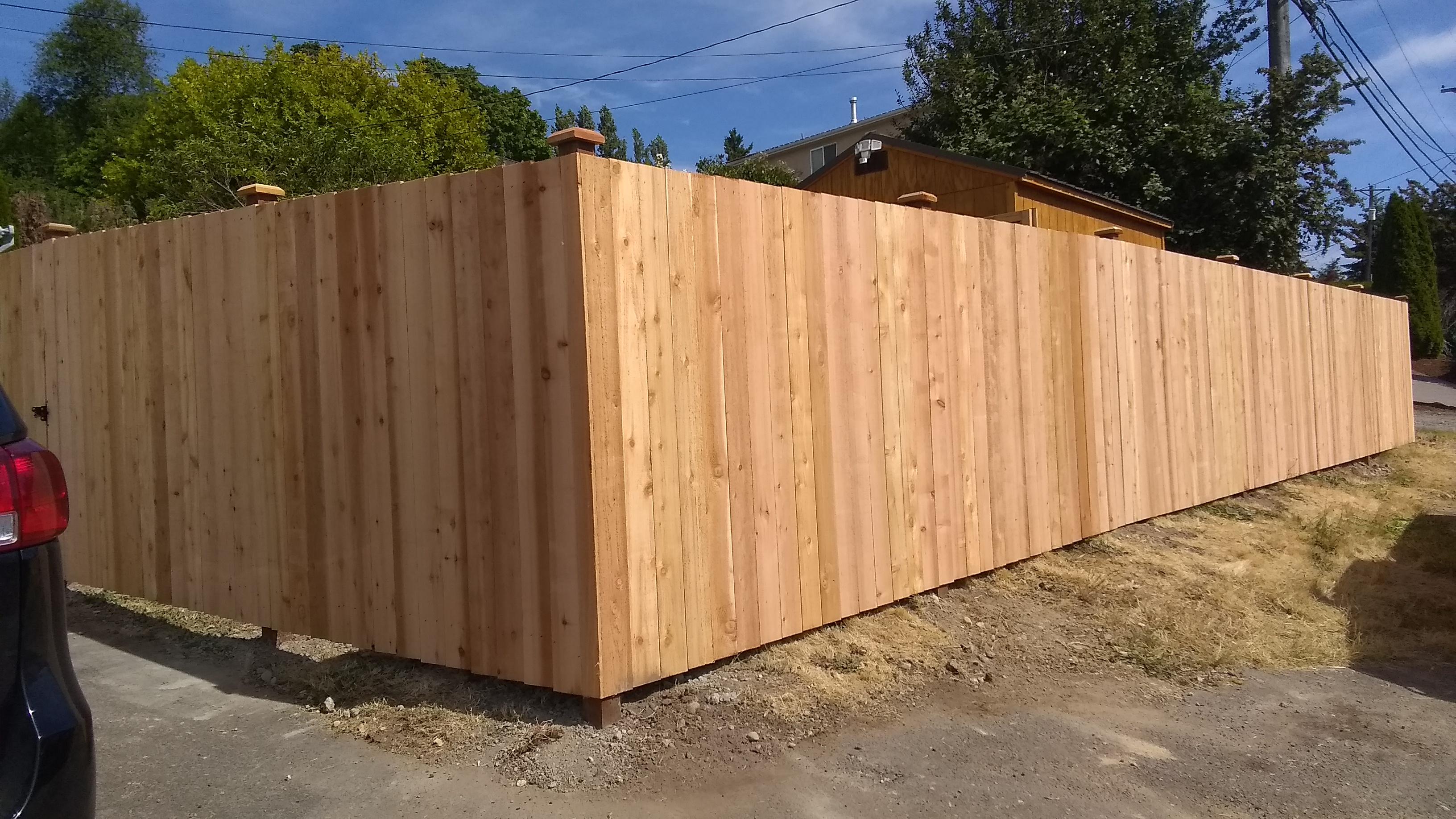 Cedar Straightboard Fence