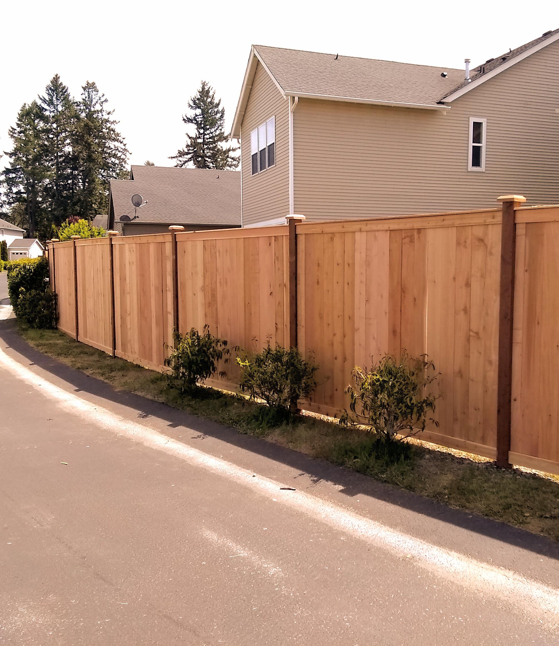 Estate Style Cedar Fence