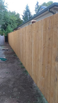 Staggered Prestain Straightboard Fence