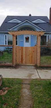 Custom Full Cedar Arbor Gate
