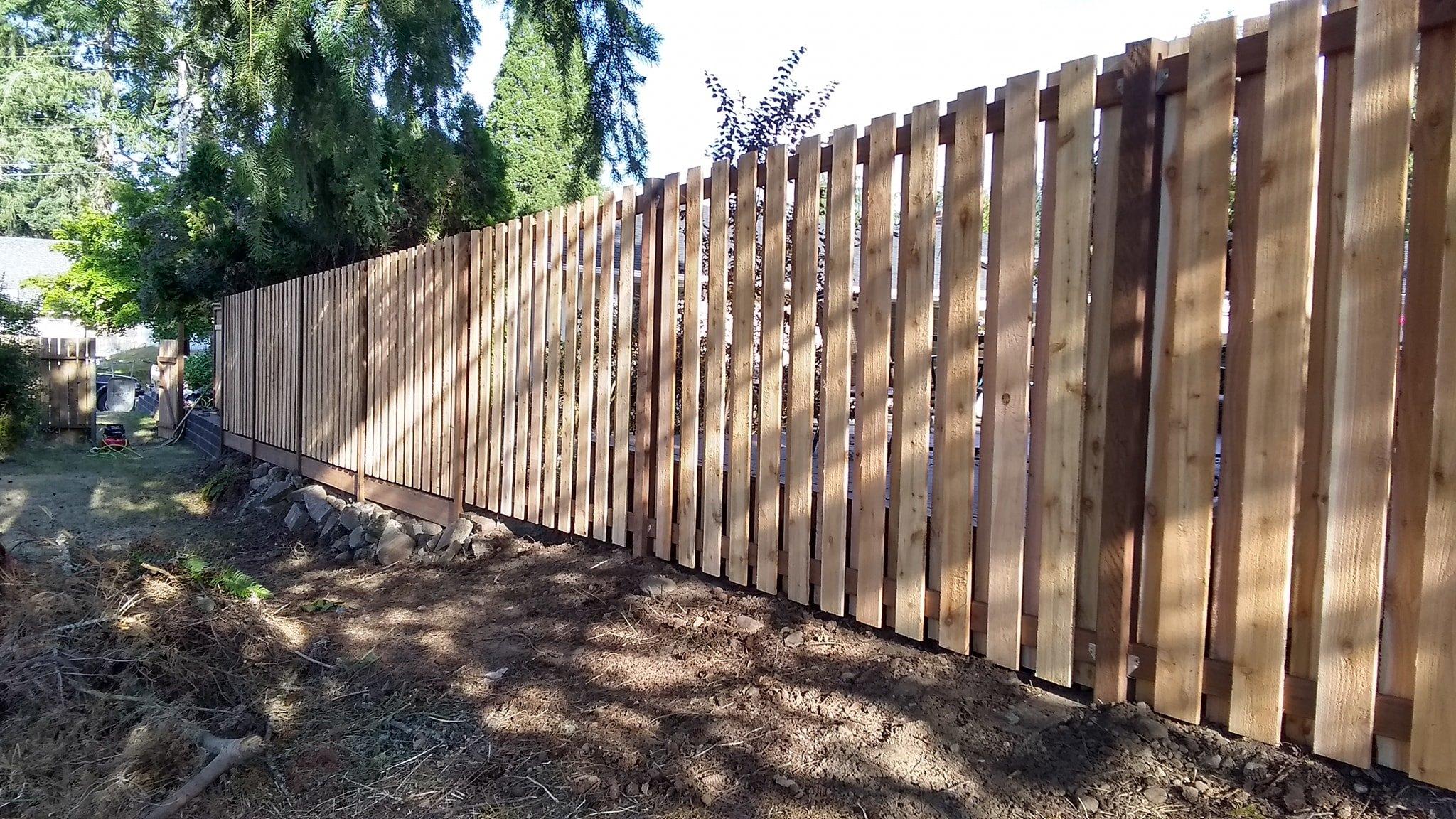 Shadowbox Cedar Fence