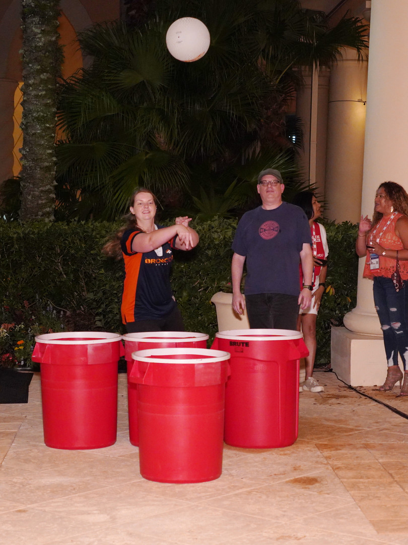 Right On Pointe adds life size beer pong
