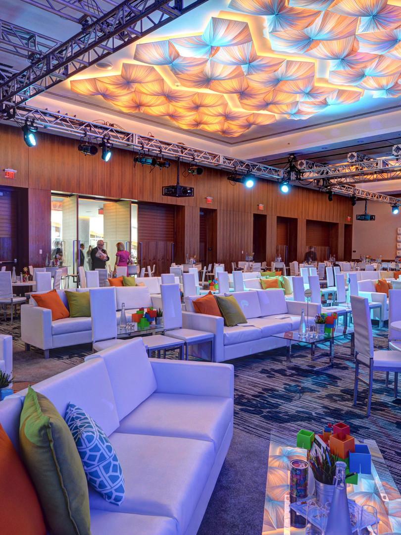Sofas provide a more comfortable seminar layout